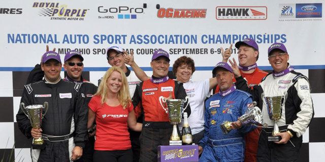 All class podium winners shown here...I mean goofing around, gotta have fun!